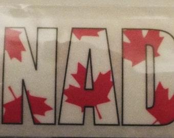 Canada Rub On Transfer Reminisce Phraseology Flag Maple Leaf