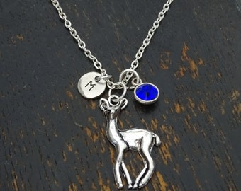 Deer Necklace, Deer Charm, Deer Pendant, Deer Jewelry, Fawn Necklace, Fawn Charm, Fawn Pendant, Fawn Jewelry
