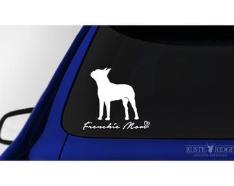 Frenchie Mom, French Bulldog Window Decal Sticker
