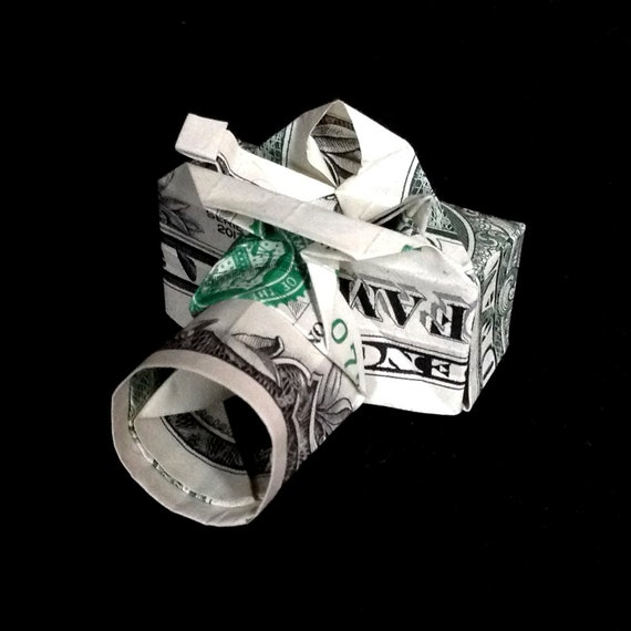 how to make origami camera out of dollar bill and also