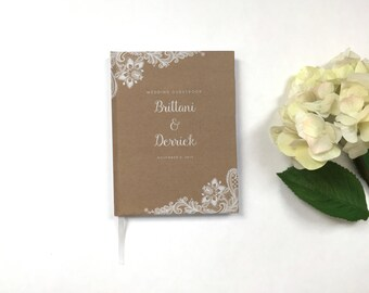 Kraft Wedding Guest Book - Wedding Guestbook - Custom Guest Book - Personalized Guestbook - Rustic Wedding Keepsake