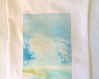 Taiwan Hsinchu Nanliao Sea- original oil painting print on T shirt