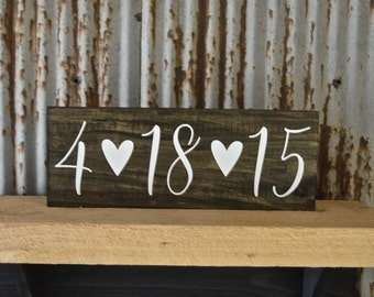 Save the Date Sign, Wedding Date Sign, Anniversary Sign, Wooden Sign