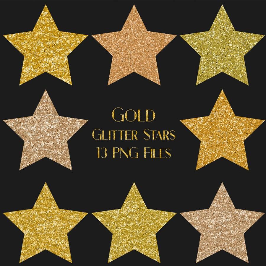 Buy for usd gold glitter star clip art stars