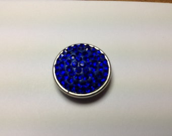 1- 18mm Blue jeweled Snap Button