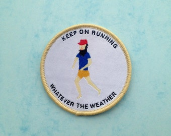 Forrest Gump Embroidered Running Patch