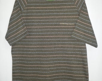 Vintage 90s//Gordon & Smith//Size  M//Atomic Surfer Beach Stripe//Raglan//