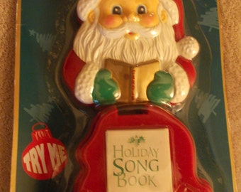 Vintage Santa Play A Tune Holiday Song Book