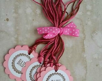 Baby Hang Tags, Set of 6 (Pink)