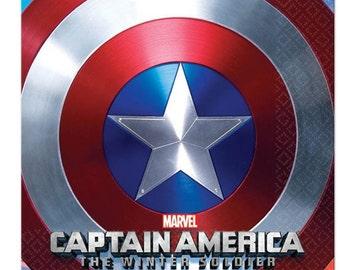 Captain America ''Winter Soldier'' Beverage Napkins 16ct