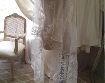 Vintage Brussels Lace Veil