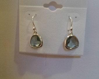 Grey Drop Crystal Earrings