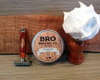Sandalwood shave soap, guys gift, gifts for him, gift for dad, vegan soap,traditional wet shaving