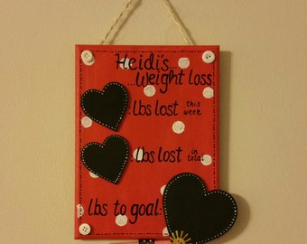 Personalised Weight Loss Plaque - Tracker