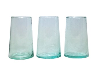 FREE SHIPPING Moroccan Stemless Hand-Blown Wine Glasses, Tall (Set of 6 )
