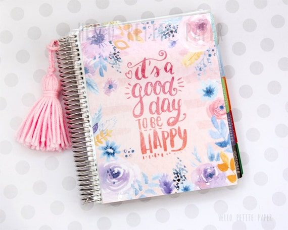 Book Cover Watercolor Quotes ~ Erin condren life planner cover watercolor floral quote