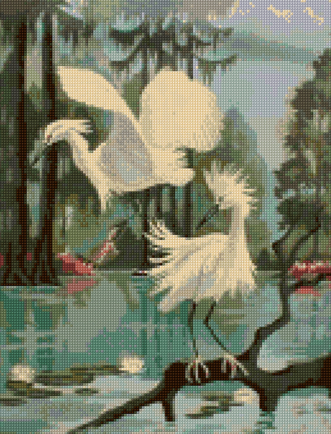 how to choose a paint color for a bedroom 1950s egrets mid century cross stitch pattern pdf easy 21319