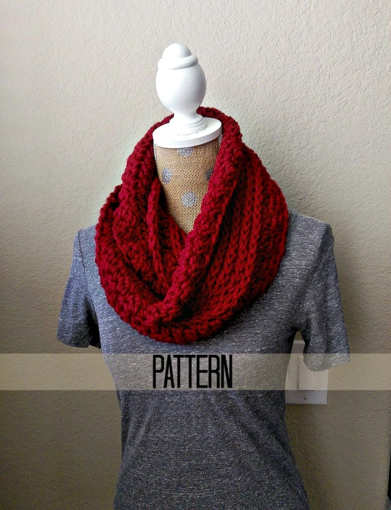 Chunky Ribbed Crochet Scarf Pattern Chunky Infinity By Myandgg