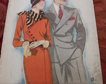 Vintage La Femme Chic from May 1932, PE9
