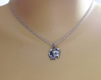Elephant necklace - mom and baby elephant - friendship necklace - mom gift - birthday