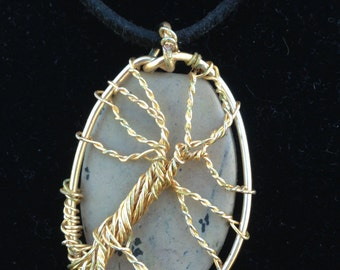 Tumbled Stone Tree of Life Pendant