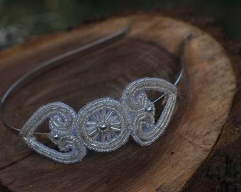 ADELE - Vintage Style Silver Bridal Headband