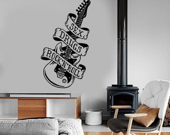 Wall Decal Music Sexy Drugs Rock And Roll Vinyl Sticker Mural Art 1589dz