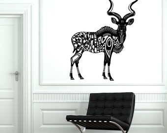 Wall Decal Animal Deer Antelope Kunu Africa Mural Vinyl Decal Sticker 1863dz
