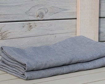 Aged linen bath / hand / face towel. Ash Grey. Hand made by LinenSky.