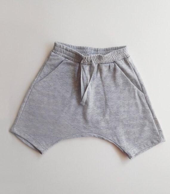 Toddler Shorts, Boy Shorts, Girls Shorts, Kids Shorts, Harem Shorts, Summer Kids, Hipster Toddlers Shorts, Grey Quilted Cotton Knit, SALE
