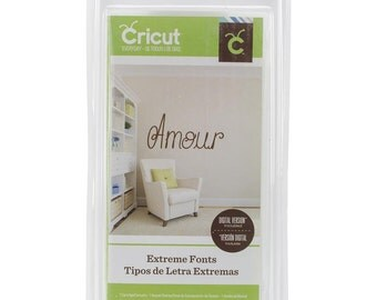 Cricut Extreme Fonts Cartridge