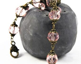 Romantic vintage Czech glass beads bracelet