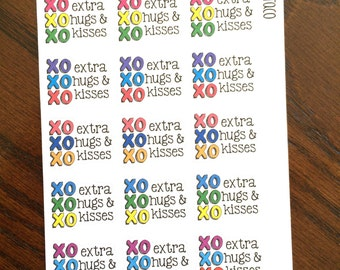 Extra Hugs & Kisses Planner Stickers