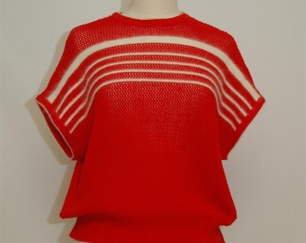 red top with mohair detail/size M/L