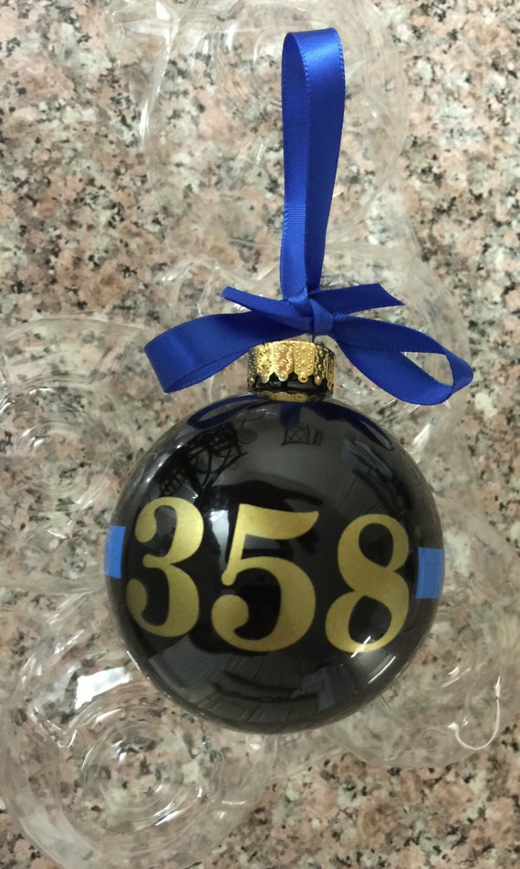 Thin Blue Line Christmas Ornament Thin Red Line By