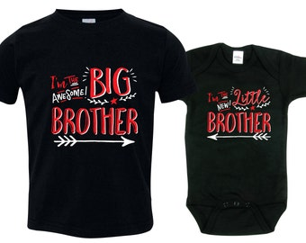 Big brother little brother shirts matching sibling shirts, Big Brothers Hippster shirt, HipSib