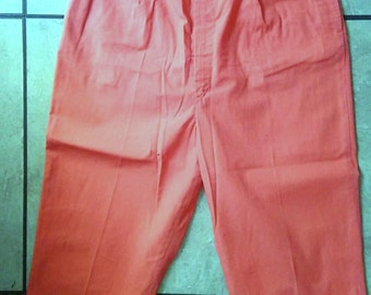 50s Capri Pants / 50s High Waist Pants / Rockabilly Pin up Pants