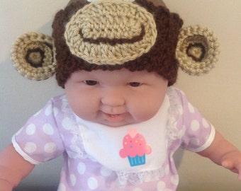 Funky Monkey Crocheted Baby Ear Warmer / Headband