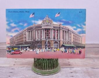 Vintage Postcard-Boston-Massachusetts-Vintage Photo Massachusetts-Massachusetts Postcard-Vintage Paper Ephemera