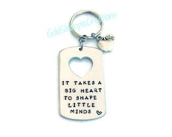 Teacher Keychain- Teacher Appreciation, Teacher Gift, Teacher's Gift, Teachers, Gift for Teacher, Hand stamped, Key chain, Accessories