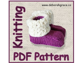 Baby Booties knitting pattern Pdf didital download