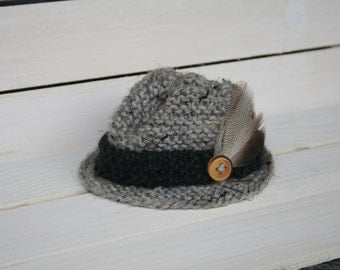 DUBLIN Knit Fedora Hat for Newborn Photo Shoots