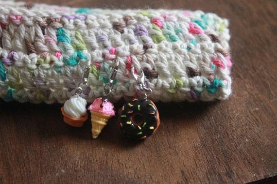 Crochet Stitch Keeper : DESSERT Knitting Crochet Progress Keepers set of 3 TASTY TREATS Stitch ...
