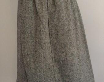 Vintage 1970s Wool Skirt M/L