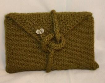 The Magic of Moss Tarot Pocket (tarot bag, tarot pouch, tarot case) - Knitted Linen -  *Reiki Charged*