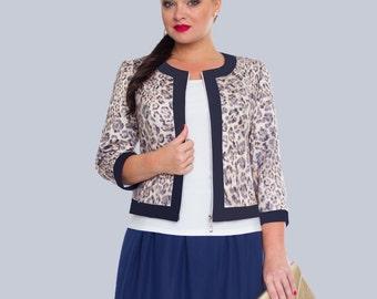 Plus size Suit. Women Suit. Skirt, blouse, jacket.
