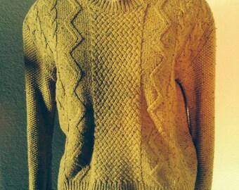 70% off vintage mustard yellow zig zag knit sweater