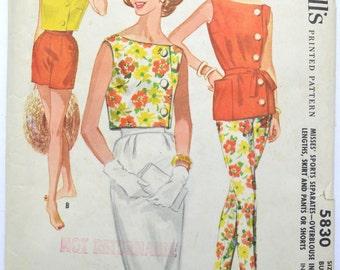 McCalls 5830 Vintage Sewing Pattern 1960's Sports Separates