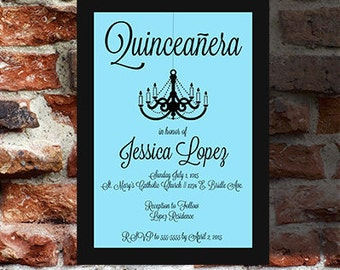 Custom and Personalized Quinceanera invitations for your Special Day