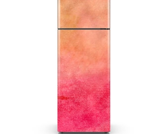 Fridge Decal - Warm Watercolor Background Adhesive Wallpaper - Self Adhesive Vinyl Decal Sticker